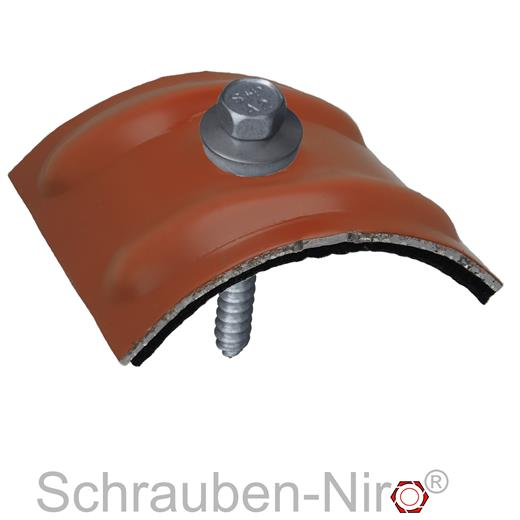 100 Fassadenschrauben 6,5x64 100 Kalotten Trapez Profil 76//18 70//18 Wellplatten