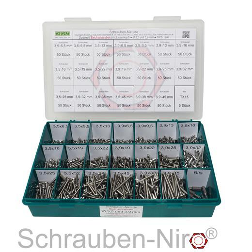 50 Stk Blechschrauben 3,9 mm DIN 7981 3,9 x 13 Torx Edelstahl V2A